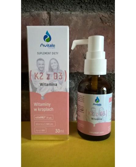 Witamina K2 z D3 20µg/500IU  suplement diety