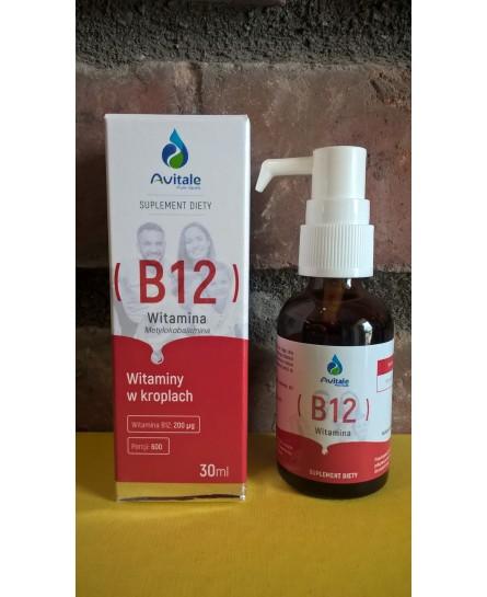 Witamina B 12 Metylokobalamina 200 µg 30 ml