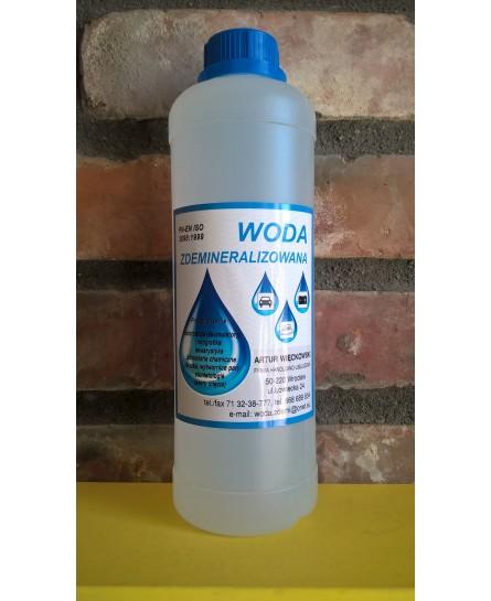 Woda demineralizowana najwyższej jakości 1l