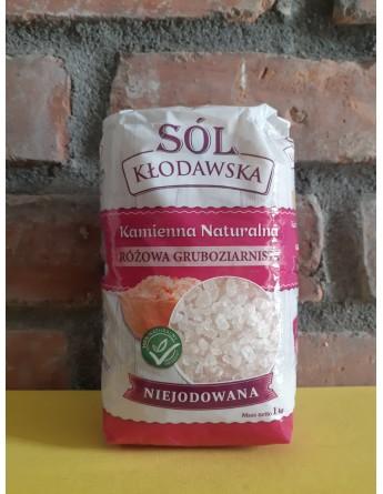 Sól Kłodawska Różowa GRUBOZIARNISTA 1kg