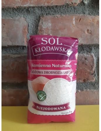 Sól Kłodawska Różowa DROBNOZIARNISTA 1kg